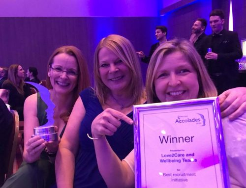 Wellbeing Teams win Best Recruitment Initiative at the Skills for Care Awards 2018